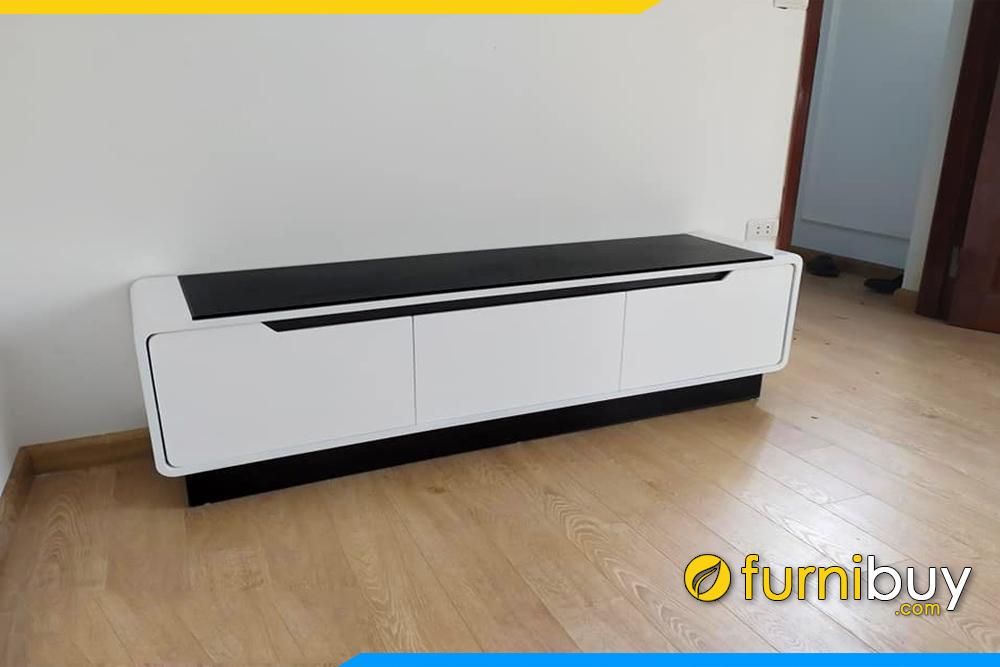 hình ảnh Mẫu kệ tivi gỗ công nghiệp đen trắng FBK016
