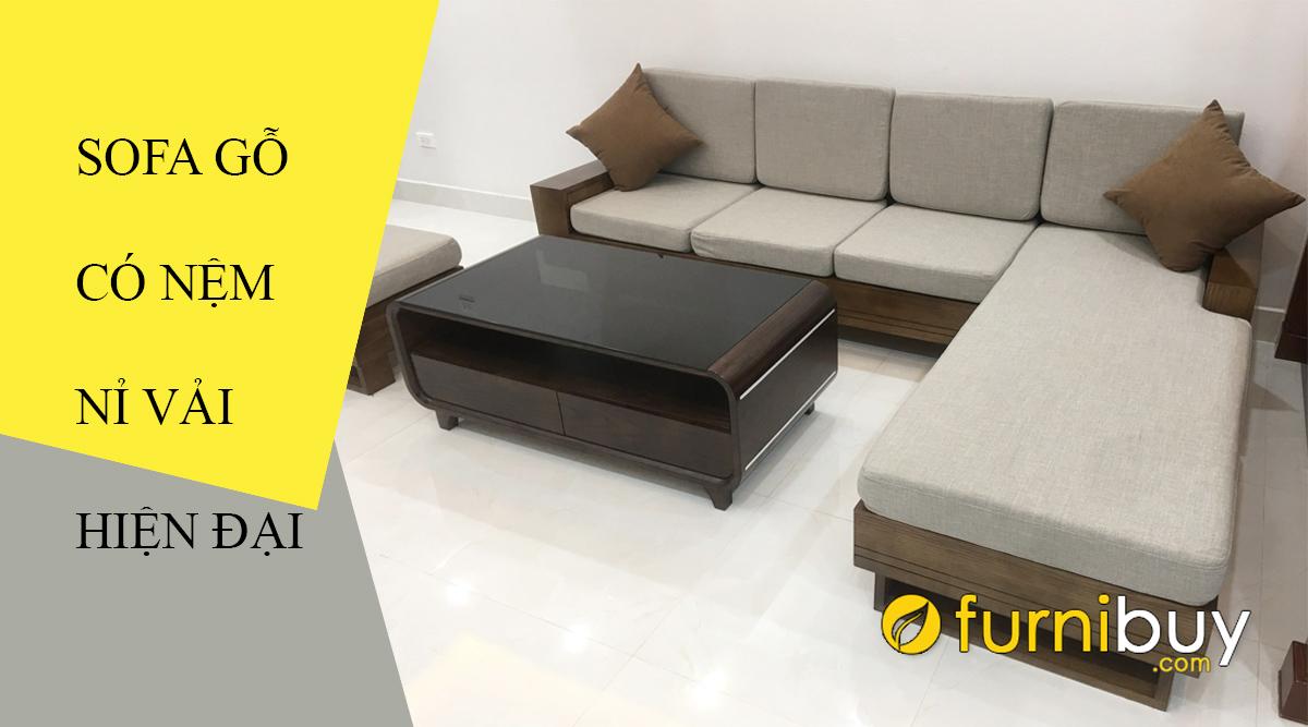 mua sofa gỗ đệm nỉ giá rẻ tại hà nội