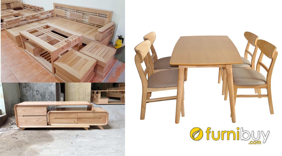 nội thất gỗ sồi nga có đặc điểm gì