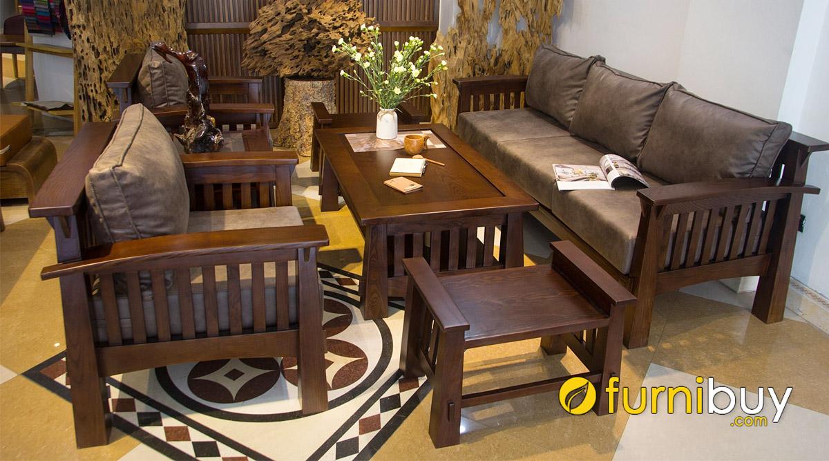 so sánh giá sofa gỗ sồi mỹ và sofa gỗ sồi nga