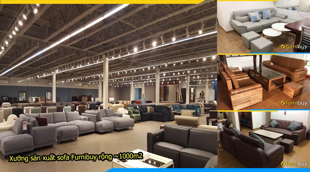 Xưởng sản xuất bàn ghế sofa văn phòng tại Hà Nội furnibuy