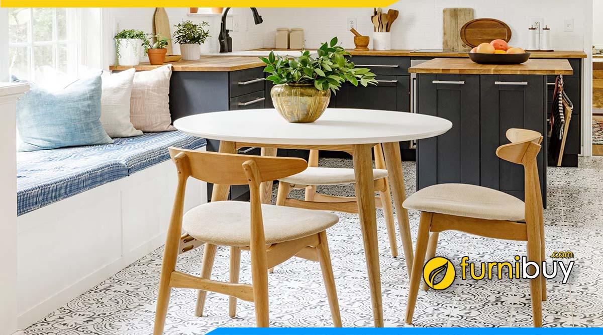 Hình ảnh bộ bàn ăn nhỏ cho chung cư mini hẹp tư vấn bởi furnibuy