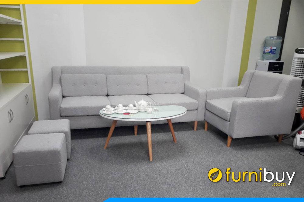 hình ảnh Bộ sofa nỉ văn phòng giá rẻ dưới 10 triệu đơn giản