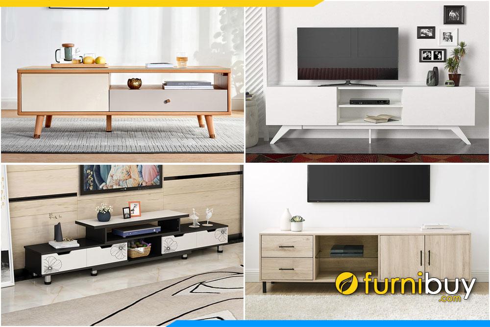Các mẫu kệ tivi đẹp gỗ công nghiệp MDF, MFC hiện đại năm nay