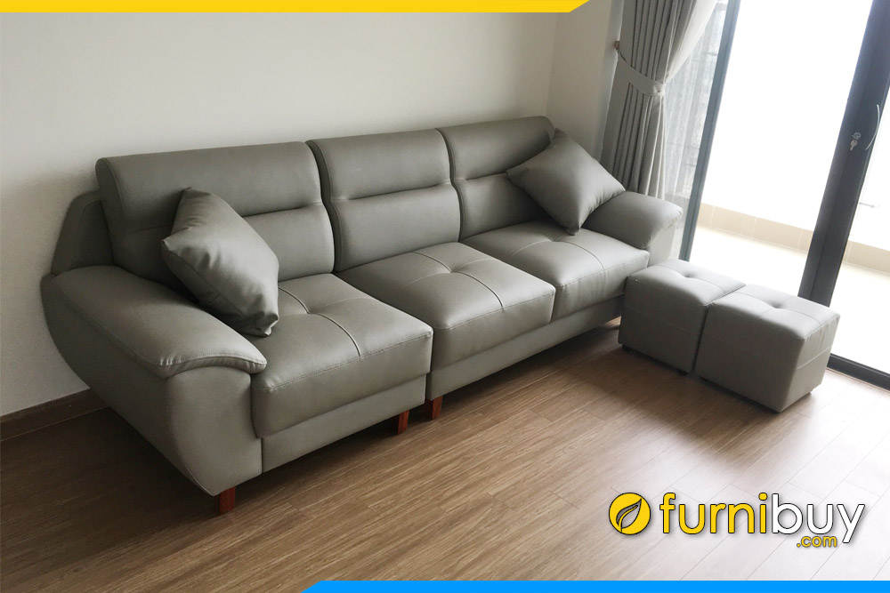 ghe sofa phong khach chung cu dang vang 3 cho ngoi tay vin thap