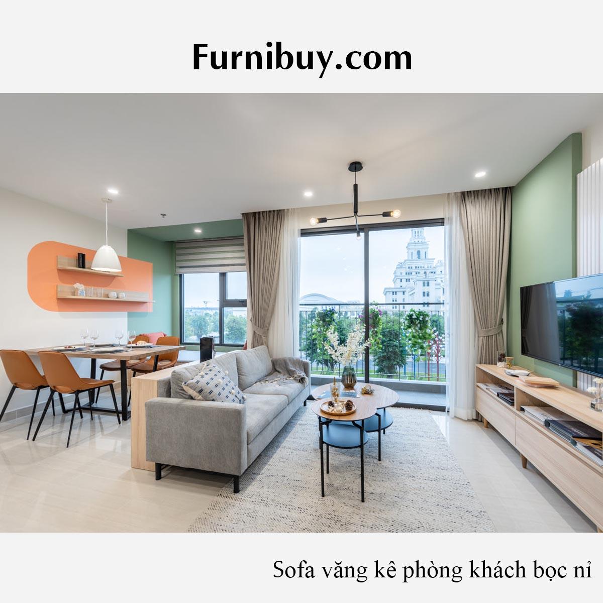 ghe sofa phong khach chung cu mini dang vang 2 cho ngoi nho xinh