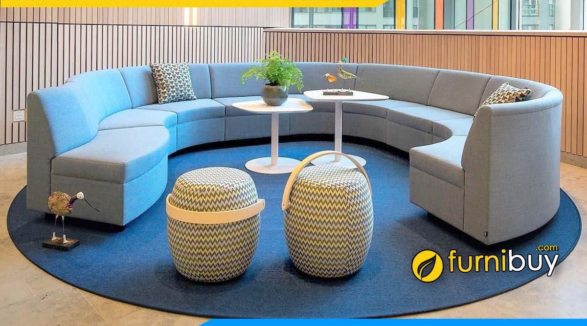Hình ảnh Mẫu ghế sofa vải văn phòng giá rẻ kèm ưu nhược điểm