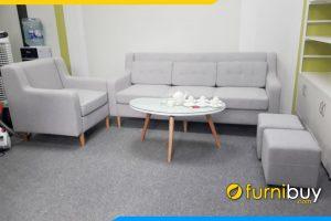 Hình ảnh Bộ ghế sofa văn phòng bọc nỉ đẹp Hà Nội FBVP1020