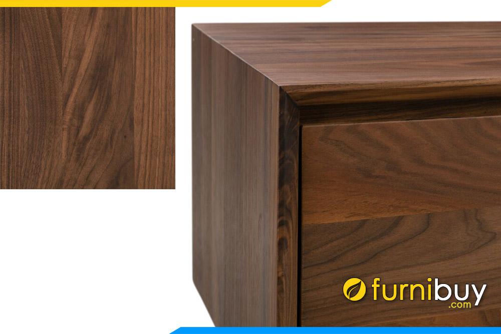 Góc chụp gần kệ để tivi gỗ sồi 1m8 màu óc chó FBK1017