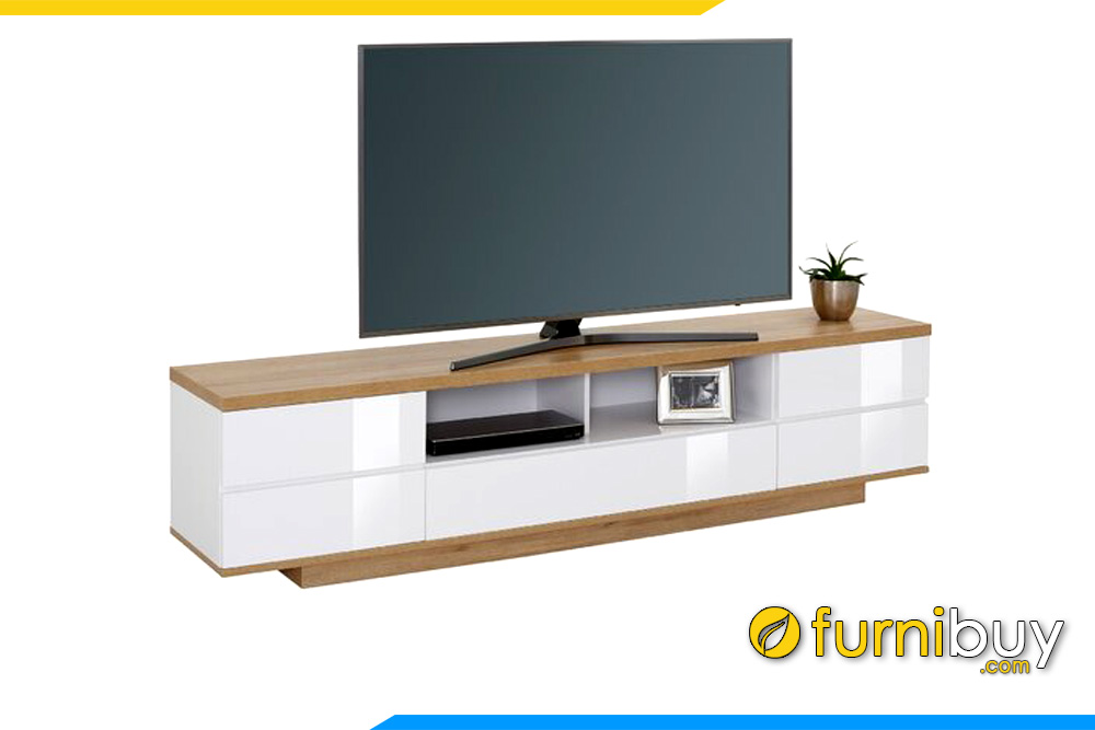 Hình ảnh Kệ để tivi bằng gỗ MDF hiện đại đơn giản 2m đặt sàn FBK1002