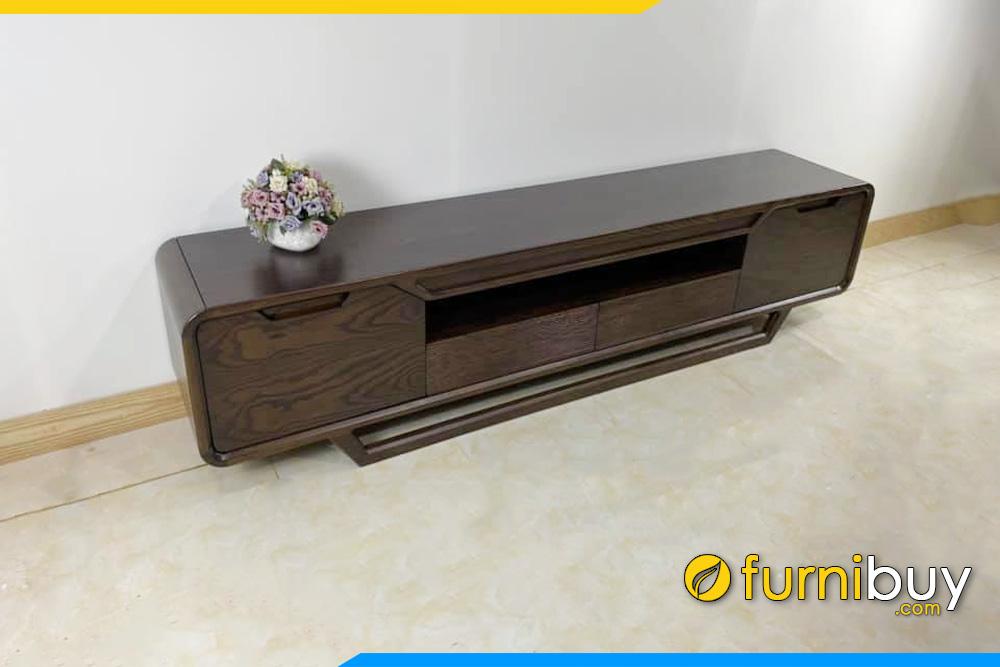 Hình ảnh Mẫu kệ để tivi gỗ hiện đại đẹp gỗ Sồi FBK1000