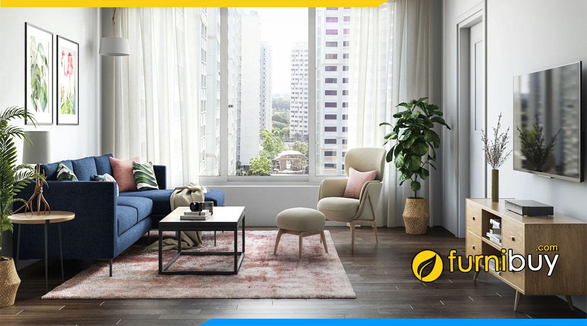 ảnh Mẫu kệ tivi đẹp phòng khách màu gỗ sồi hiện đại
