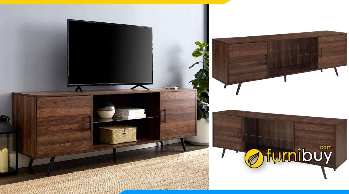 Mẫu kệ tivi gỗ công nghiệp giá rẻ Hà Nội đặt làm theo yêu cầu