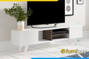 Hình ảnh kệ tivi gỗ MDF màu trắng phủ Melamine FBK1016