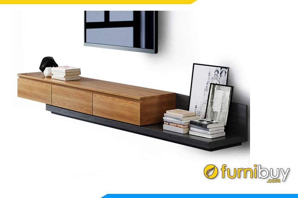 Hình ảnh Mẫu kệ tivi gỗ mdf phòng khách thấp FBK1006