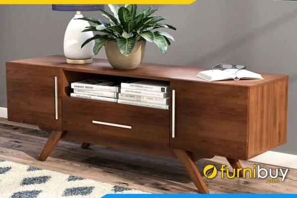 Hình ảnh mẫu kệ tivi gỗ sồi phòng khách màu cánh gián FBK1009