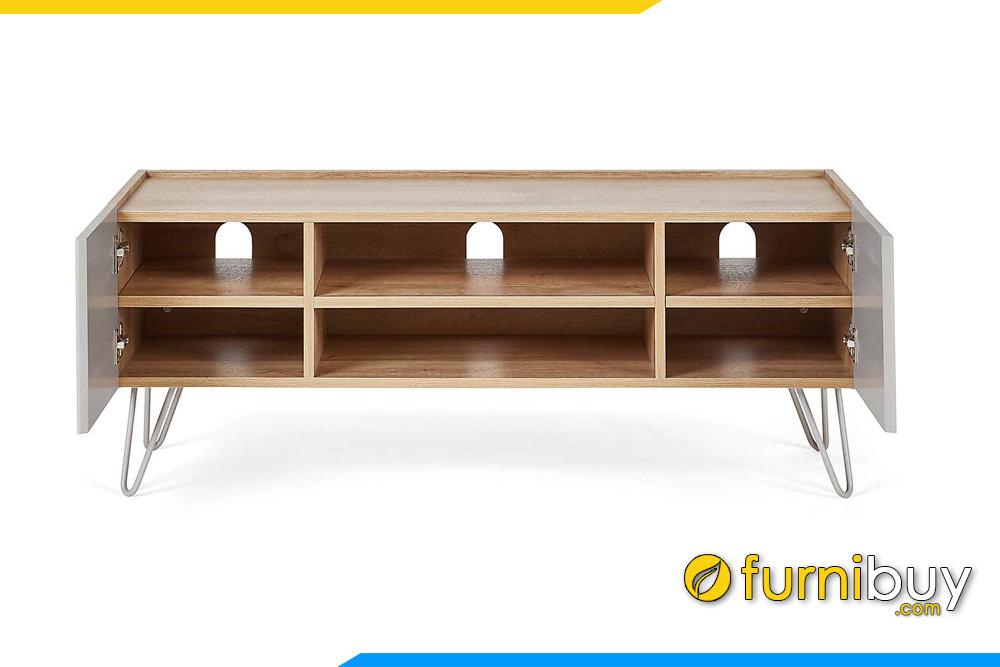 Ngăn kéo kệ tivi gỗ mdf chân sắt giá rẻ FBK1026
