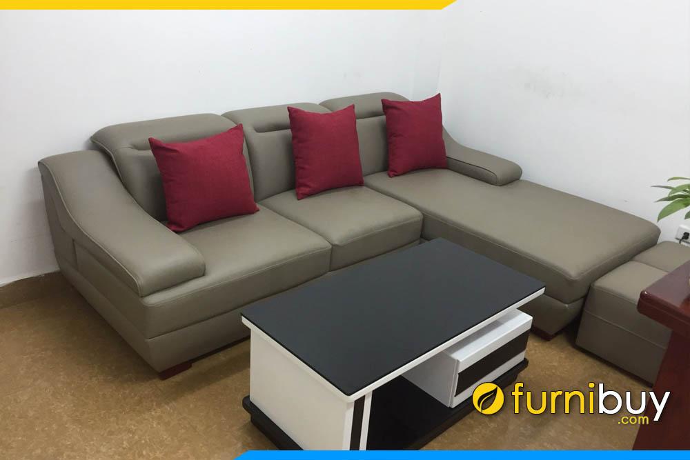 sofa da cong nghiep gia re ke phong khach dep