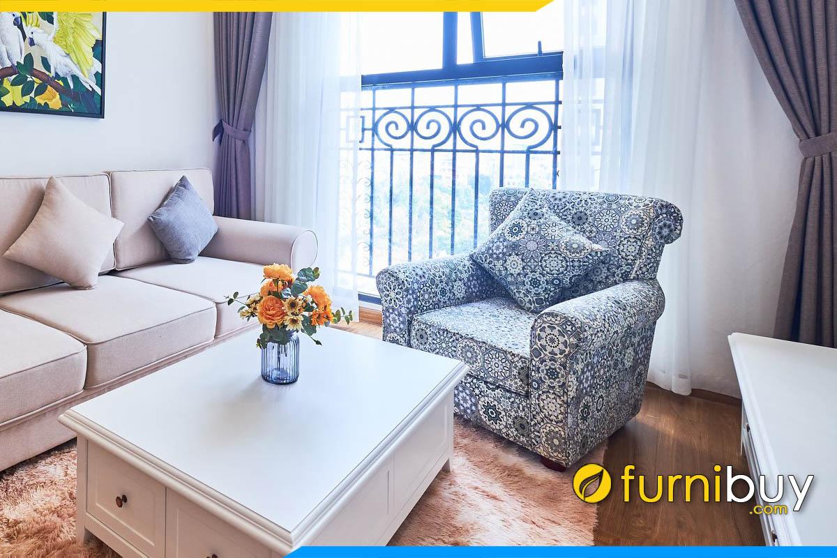 sofa don phong khach dep phong cach vintage