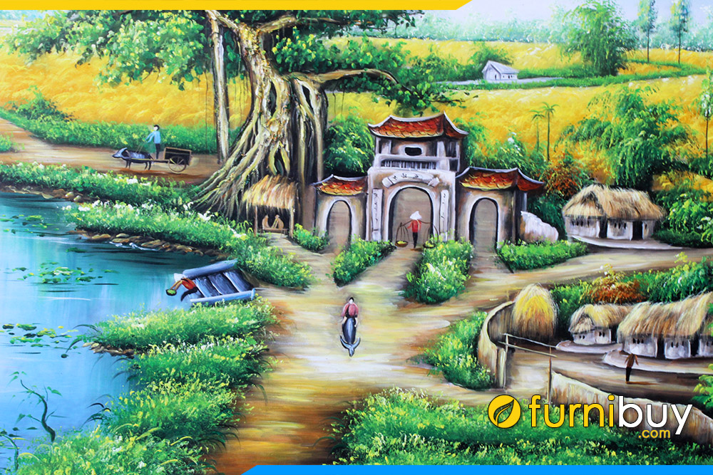 Hinh anh can canh cong lang que viet nam