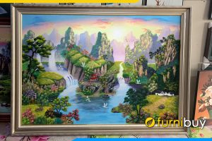 Tranh ve phong canh song nuoc son thuy trung quoc