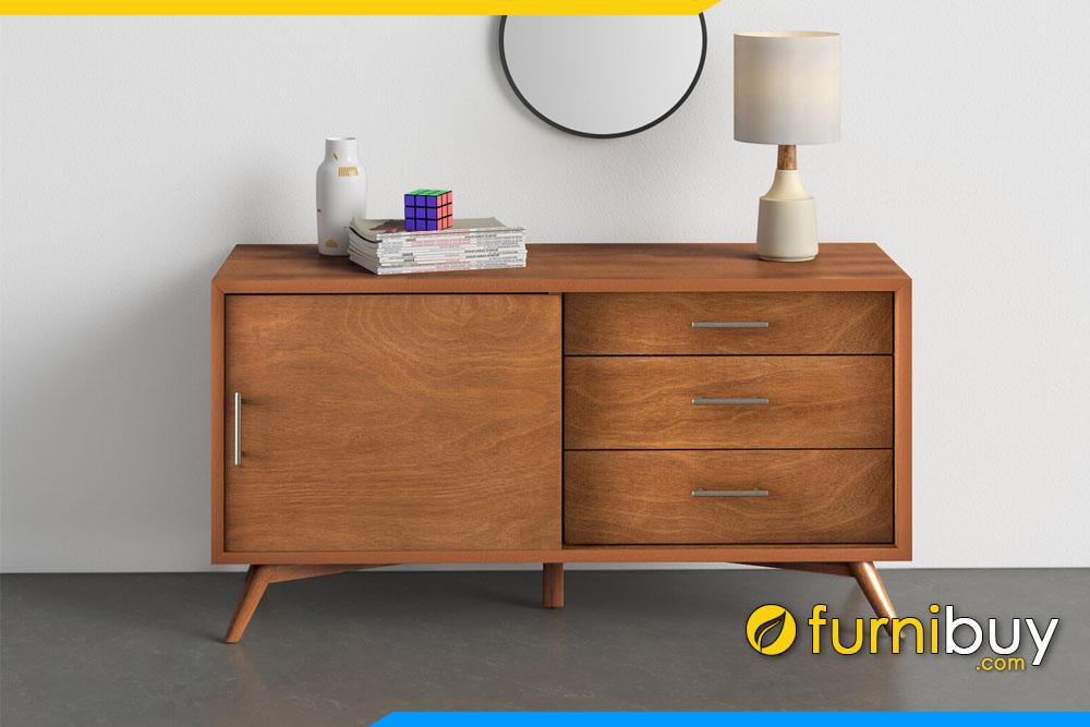 Hình ảnh Tủ kệ tivi gỗ Sồi hiện đại nhỏ gọn phòng ngủ FBK1004