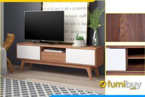 Hình ảnh Tủ kệ tivi gỗ Sồi hiện đại phòng khách nhỏ FBK1001