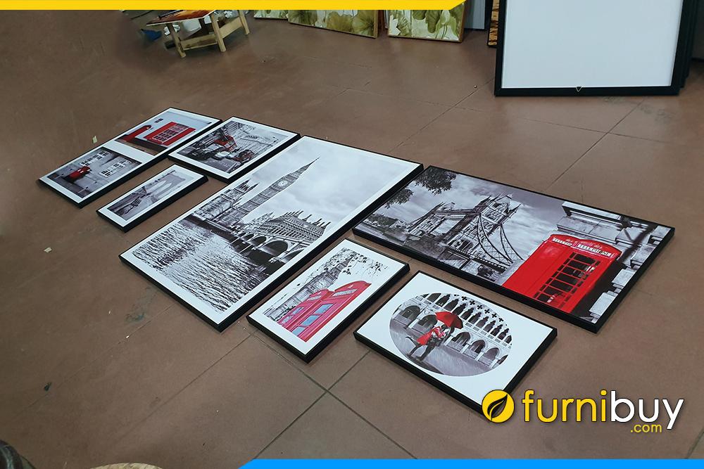 Bo tranh canvas dep hien dai phong canh Chau Au
