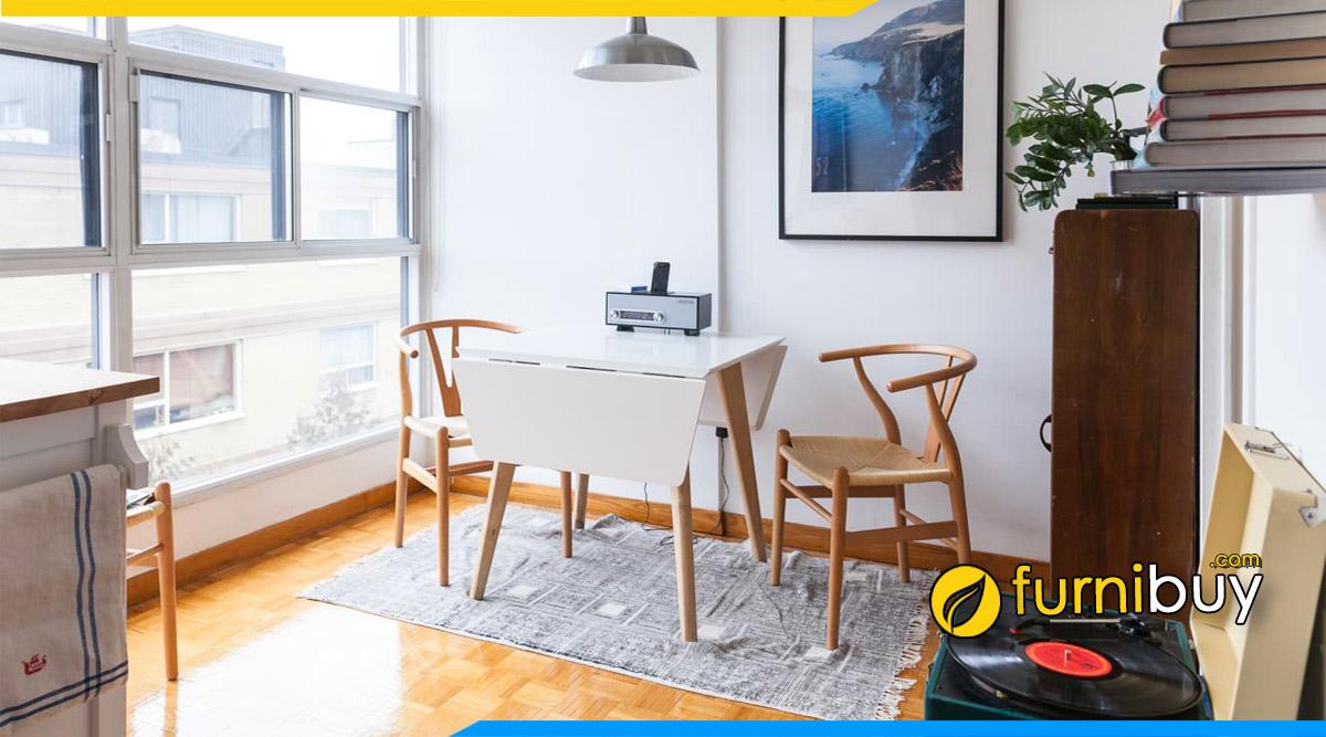 hình ảnh Bộ bàn ăn 2 ghế, 4 ghế nhỏ gọn mini