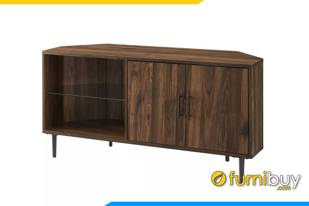 chiếc kệ tivi gỗ góc phòng ngủ đẹp FBK1041