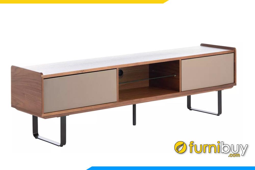 hình ảnh Chiếc kệ tivi gỗ hiện đại cho chung cư đẹp FBK1037