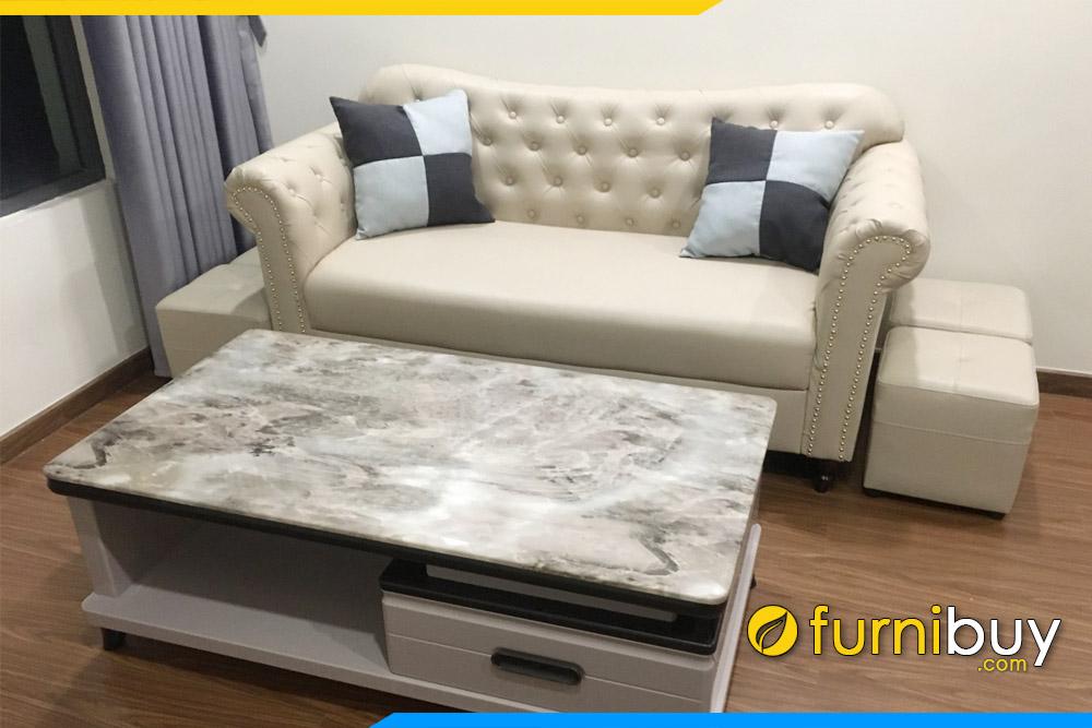 hình ảnh Ghế sofa văn phòng tân cổ điển nhỏ đẹp FBVP1017