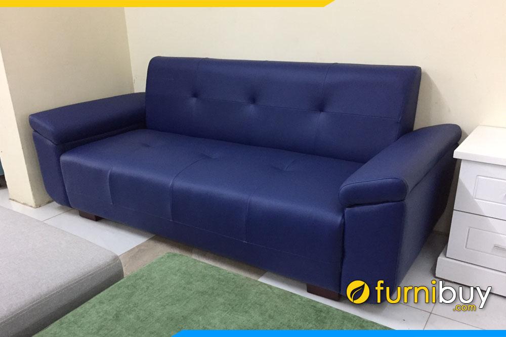 ghe sofa vang phong khach boc da cong nghiep nho mini