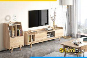 hình ảnh Mẫu Kệ tivi bằng gỗ kết hợp tủ mini nhỏ đẹp FBK1050 hiện đại