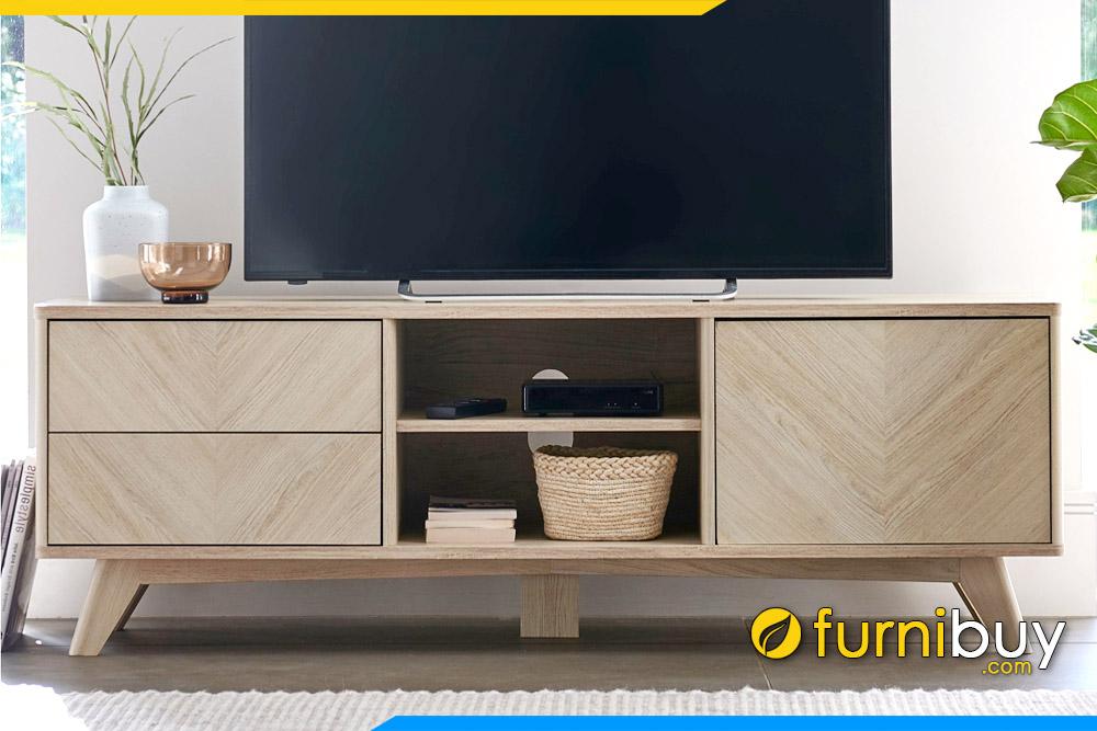 hình ảnh Kệ tivi gỗ công nghiệp đơn giản phòng khách đẹp FBK1046