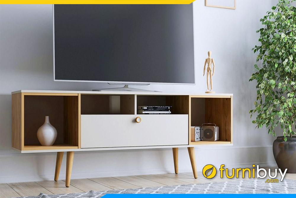 hình ảnh Kệ tivi gỗ công nghiệp phòng khách kiểu mới đẹp FBK1049