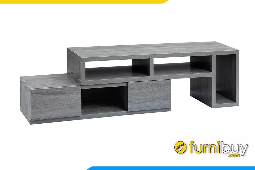 Hình ảnh kệ tivi gỗ lắp ghép màu ghi giá rẻ Hà Nội FBK1038