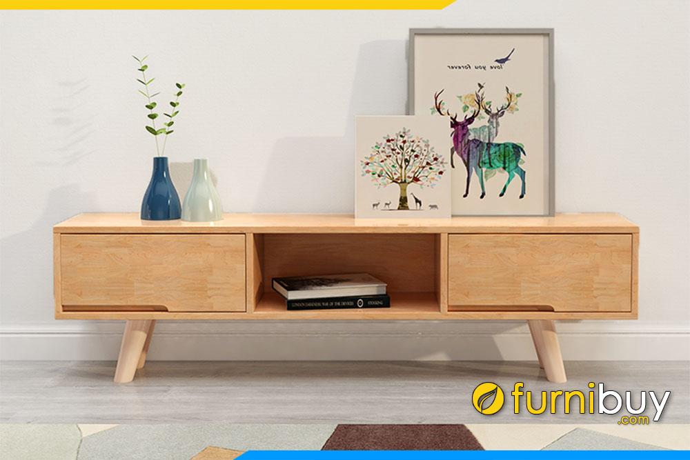 hình ảnh kệ tivi gỗ sồi hiện đại phòng khách đẹp FBK1034