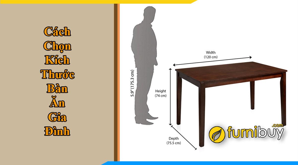 Kích thước bàn ăn gia đình nên chọn thế nào tư vấn từ furnibuy