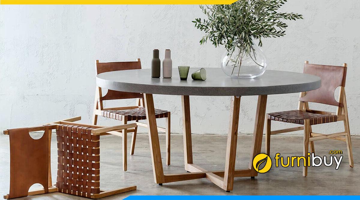 hình ảnh Mẫu bàn ghế ăn hình tròn đẹp sang trọng