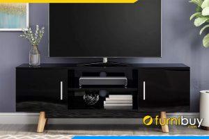 hình ảnh Mẫu kệ tivi gỗ công nghiệp màu đen 2 ngăn kéo FBK1042