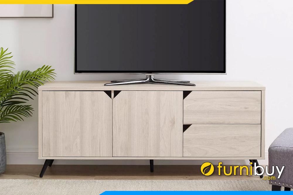 hình ảnh Mẫu kệ tivi gỗ ép giá rẻ màu ghi sáng đẹp FBK1043