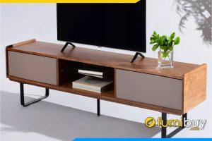hình ảnh Mẫu kệ tivi gỗ hiện đại venner màu sồi đẹp FBK1037