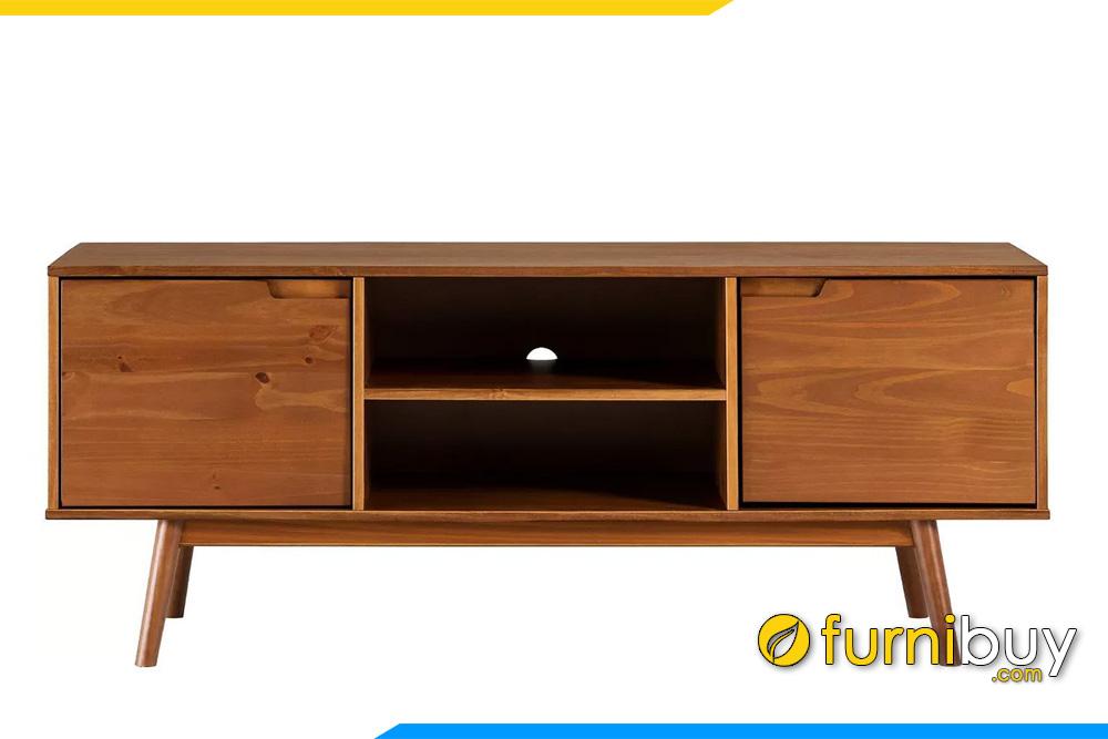 hình ảnh Mẫu kệ tivi gỗ sồi 2 ngăn tủ cánh lật FBK1033