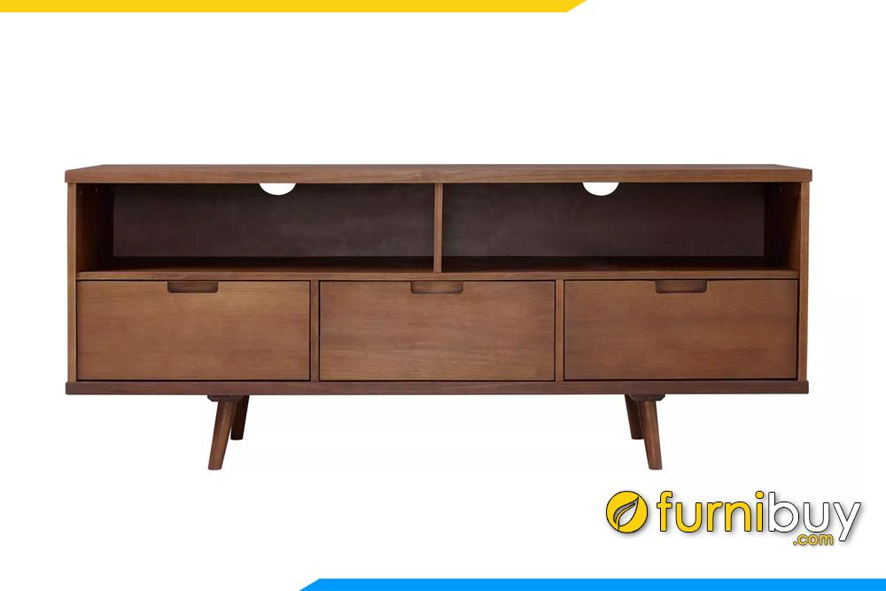 hình ảnh Mẫu kệ tivi gỗ sồi 3 ngăn kéo phòng khách FBK1039