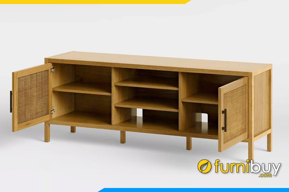 hình ảnh Mẫu kệ tivi gỗ sồi đơn giản Retro đẹp FBK1032