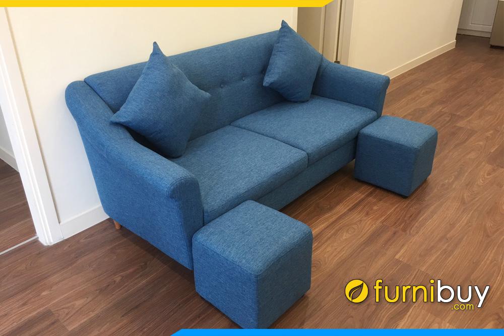 sofa phong khach chung cu dang vang mini 2 cho ngoi