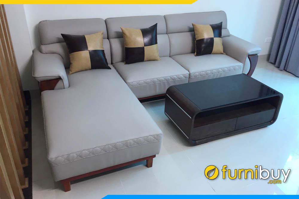 sofa phong khach nha pho mau ghi dang chu l op go vien tay