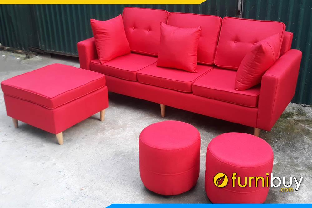 sofa vang 3 cho ngoi ke phong khach hien dai