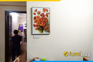 Tranh canvas treo tuong 1 tam binh hoa poppy
